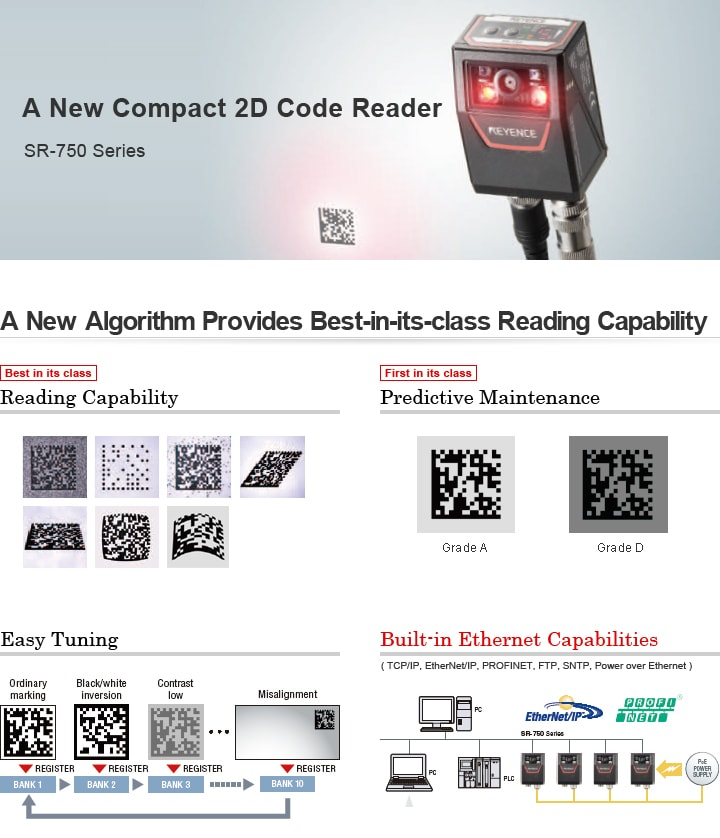 SR-750 Series Compact 2D Code Reader Catalogue (English)