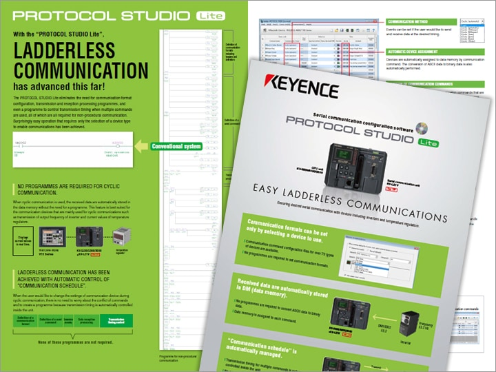 PROTOCOL STUDIO Lite Serial Communication Configuration Software Leaflet (English)