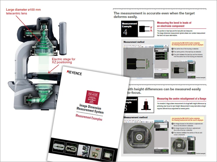 IM-6120 Image Dimension Measurement System Measurement Examples (English)