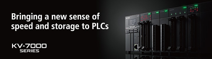 Bringing a new sense of speed and storage to PLCs KV-7000 SERIES