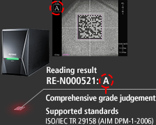 [Reading result RE-N000521:A] A:Comprehensive grade judgment - Supported standards ISO/IEC TR 29158 (AIM DPM-1-2006)