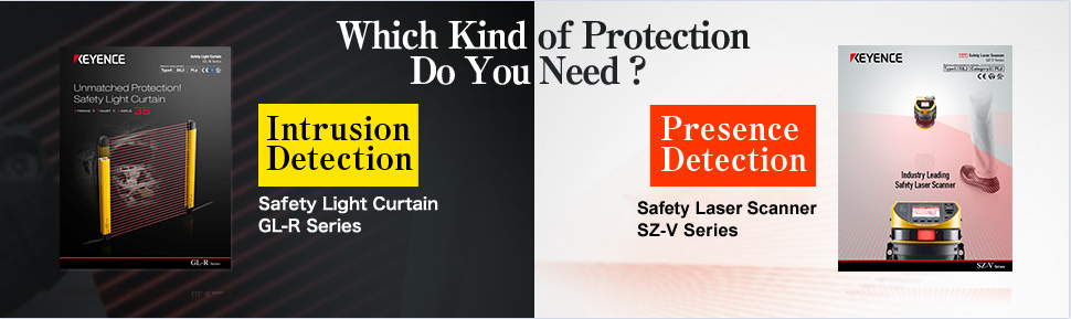 Select upon usage ・【Intrusion Detection】Safety Light Curtain GL-R Series
