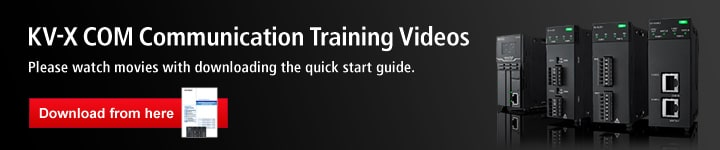 KV-X COM Communication Training Videos. Please watch movies with downloading the quick start guide.